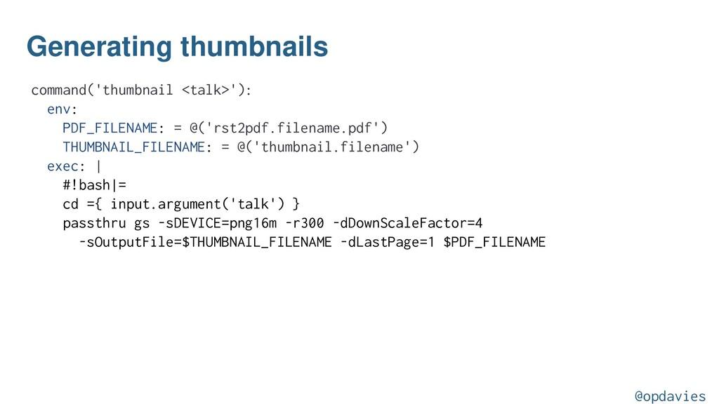 Generating thumbnails command('thumbnail <talk>...