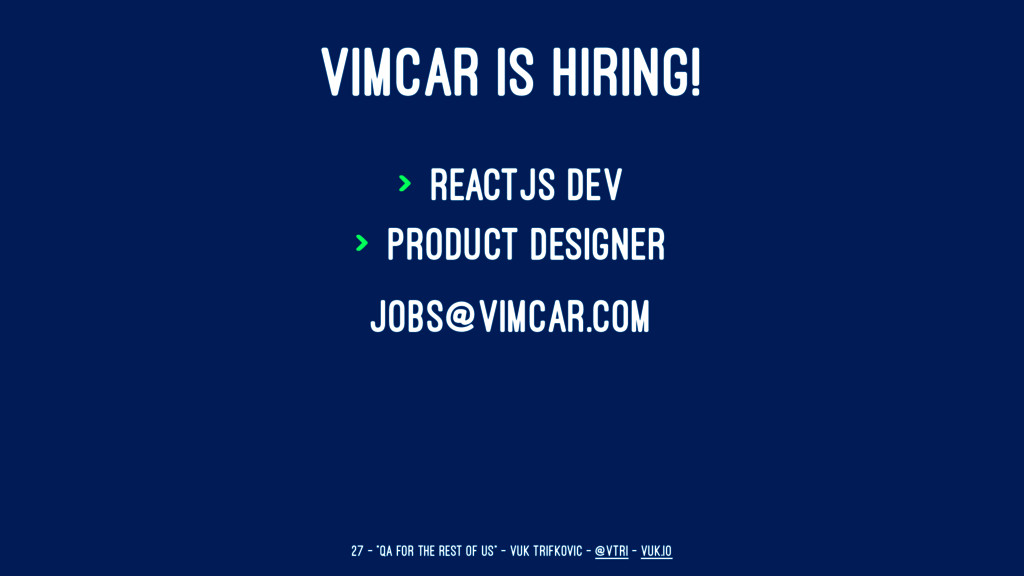 VIMCAR IS HIRING! > ReactJS dev > Product Desig...