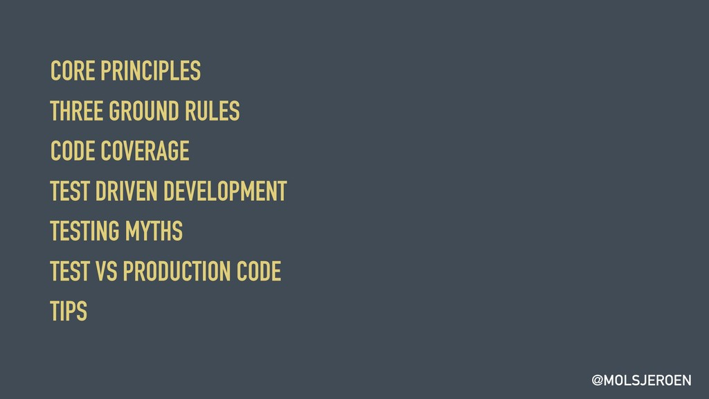 @MOLSJEROEN CORE PRINCIPLES THREE GROUND RULES ...
