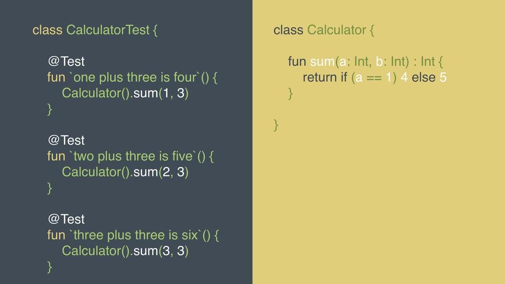 @MOLSJEROEN class CalculatorTest { @Test fun `o...