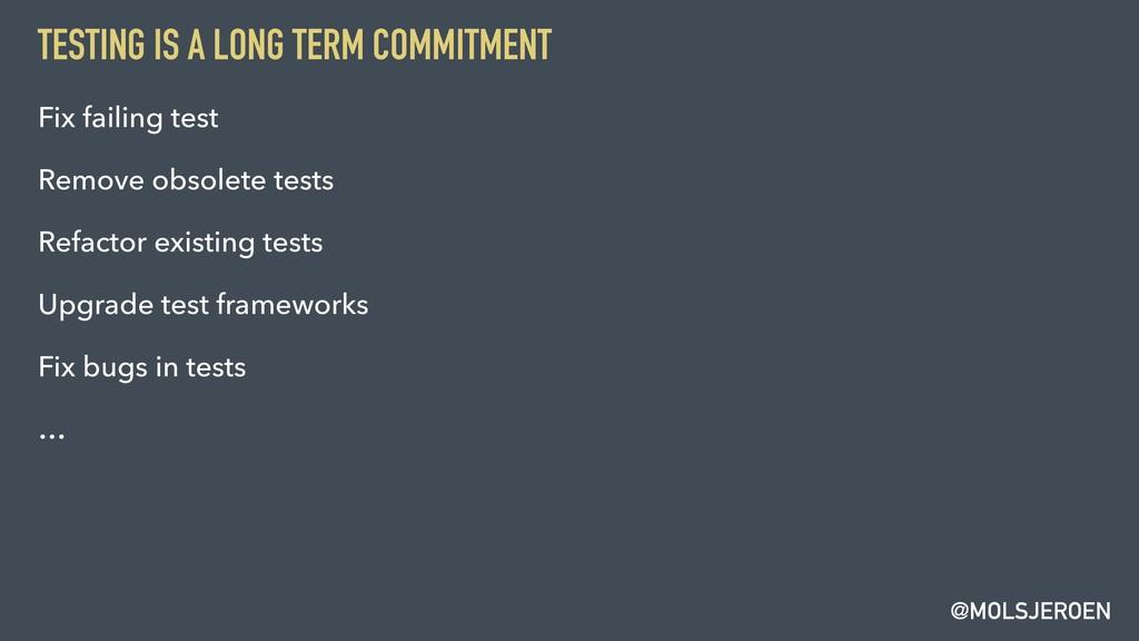 @MOLSJEROEN TESTING IS A LONG TERM COMMITMENT F...