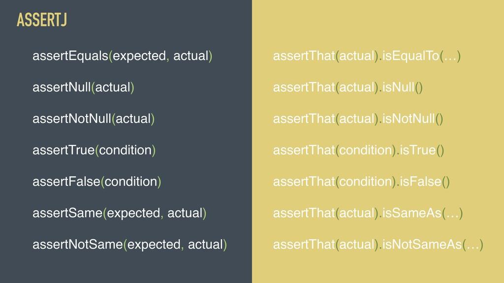 @MOLSJEROEN assertEquals(expected, actual) asse...