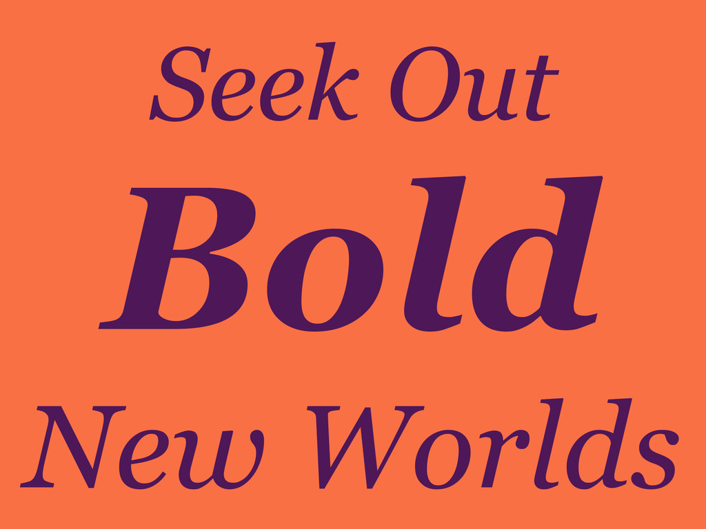 Seek Out New Worlds Bold