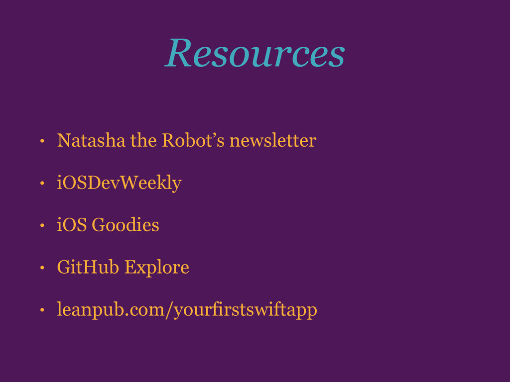 Resources • Natasha the Robot's newsletter • iO...