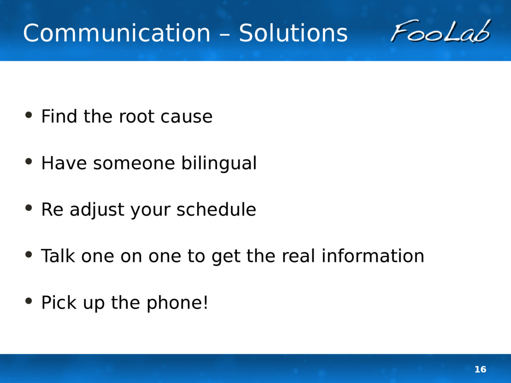 16 Communication – Solutions • Find the root ca...