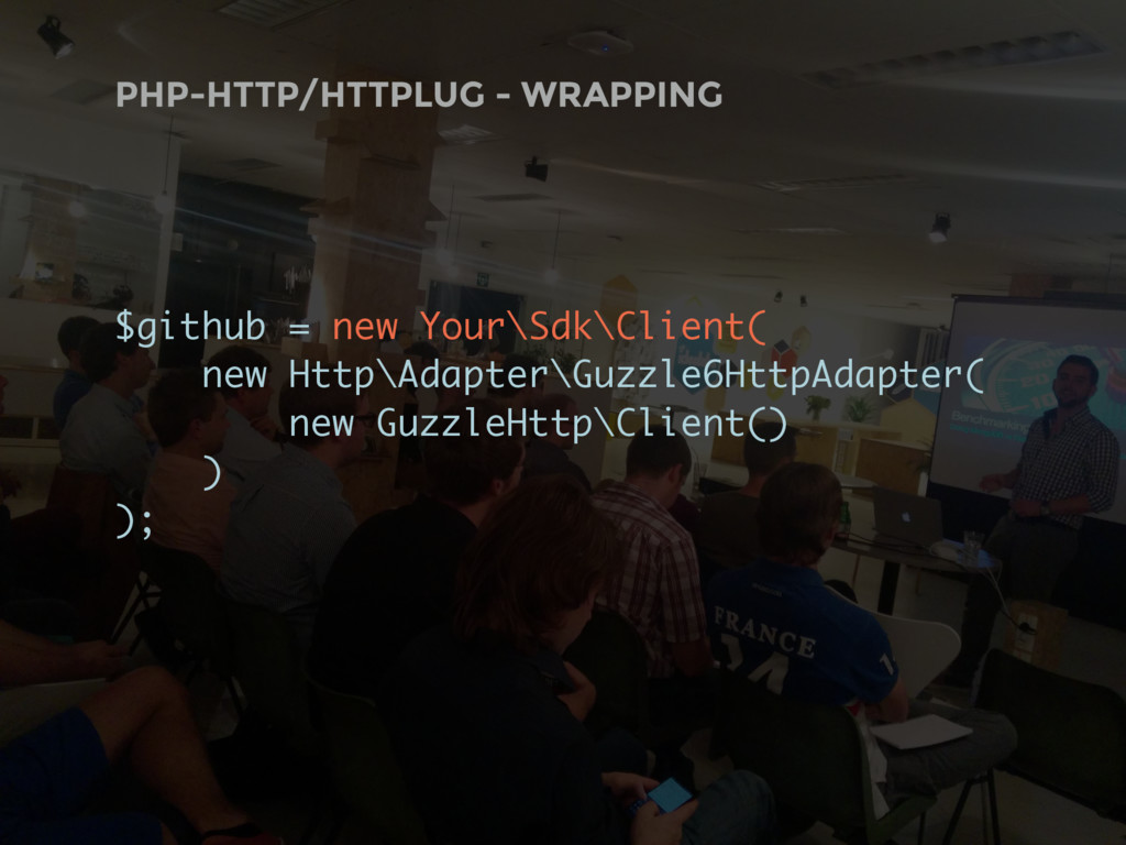 PHP-HTTP/HTTPLUG - WRAPPING $github = new Your\...