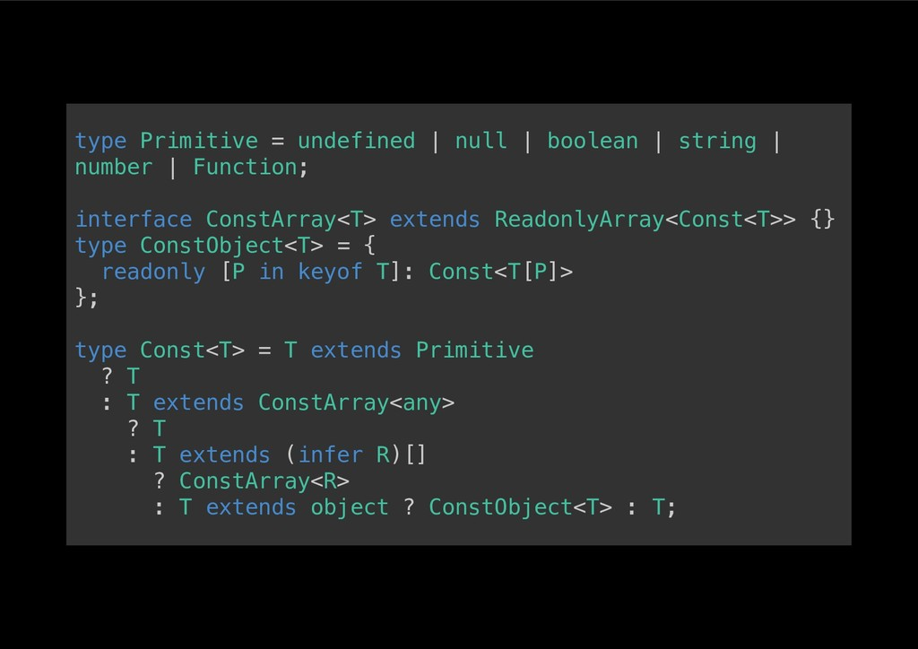 type Primitive = undefined | null | boolean | s...