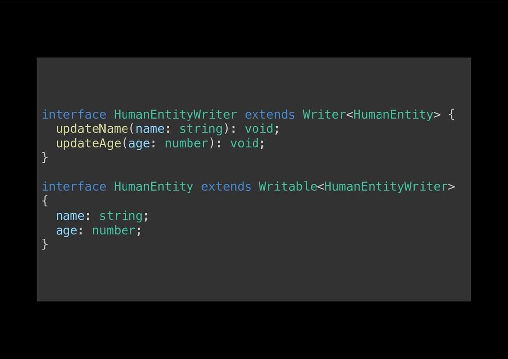 interface HumanEntityWriter extends Writer<Huma...