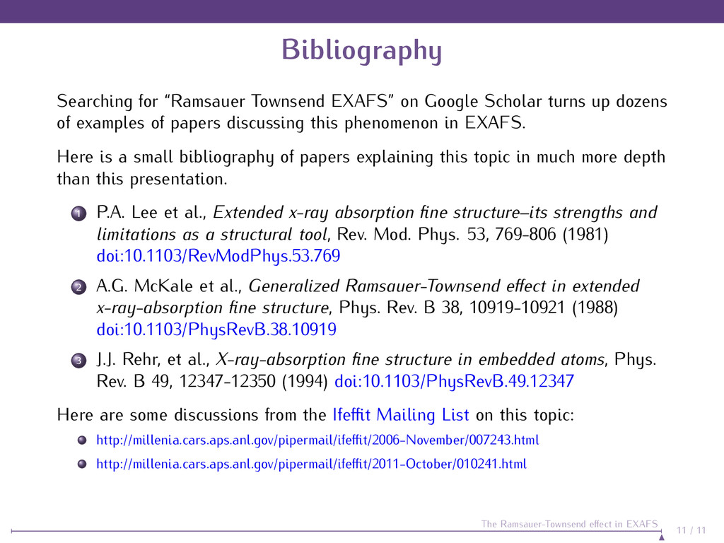 "Bibliography Searching for ""Ramsauer Townsend E..."