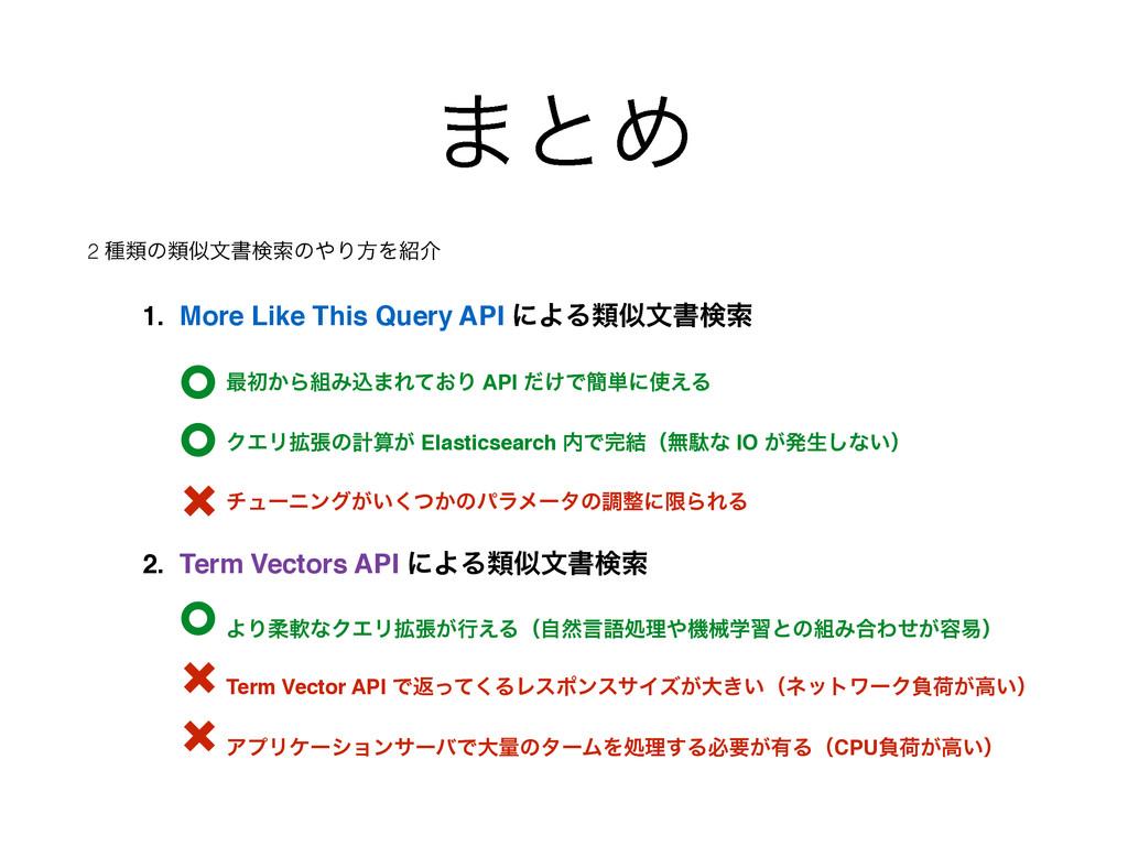 ·ͱΊ 2 छྨͷྨจॻݕࡧͷΓํΛհ 1. More Like This Query ...