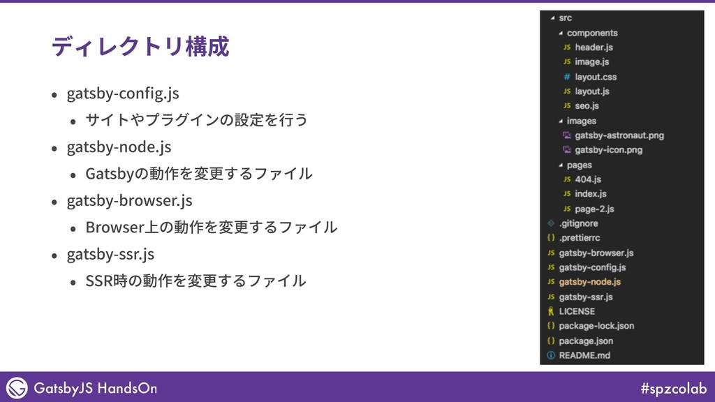 #spzcolab GatsbyJS HandsOn ディレクトリ構成 • gatsby-co...