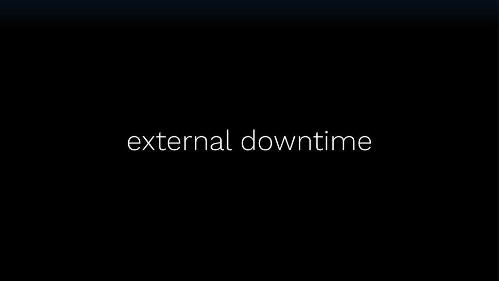 external downtime