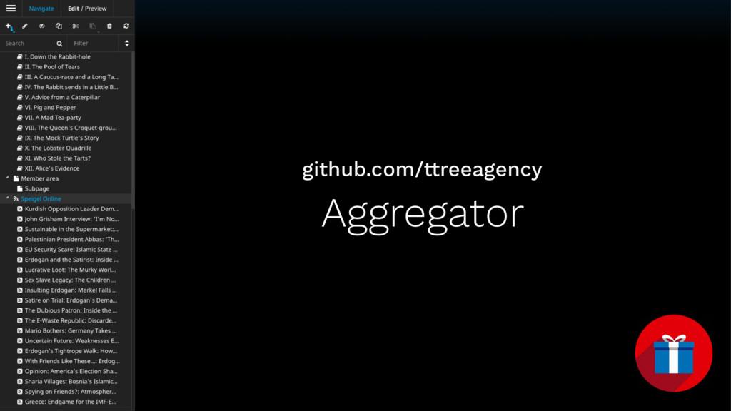 Aggregator github.com/ttreeagency