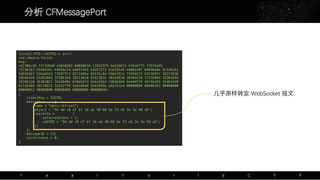 分析 CFMessagePort [Local::PID::54376]-> port: co...