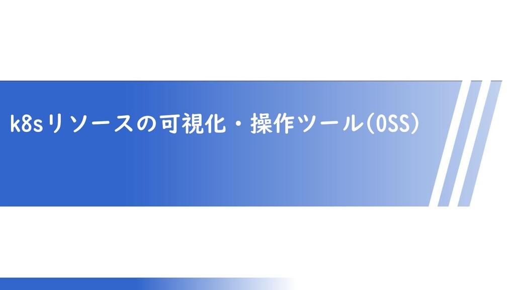 マスター タイトルの書式設定 k8sリソースの可視化・操作ツール(OSS)