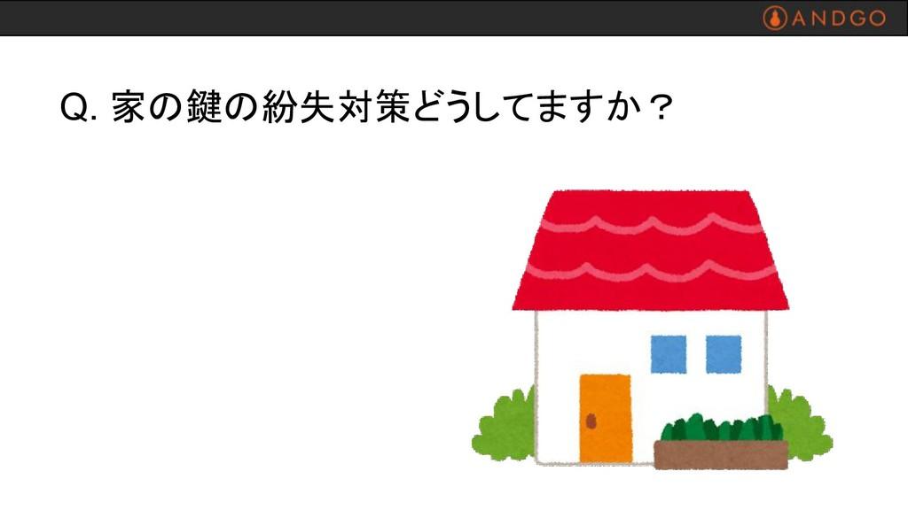 Q. 家の鍵の紛失対策どうしてますか?