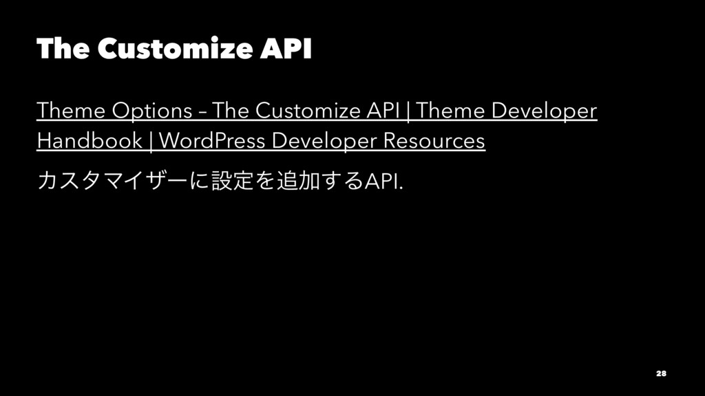 The Customize API Theme Options – The Customize...