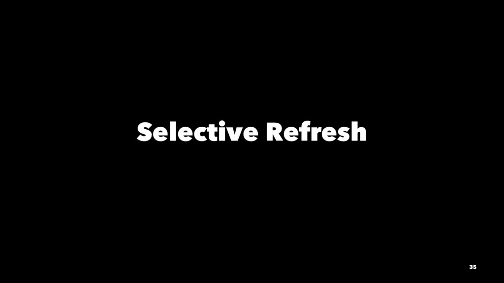 Selective Refresh 35