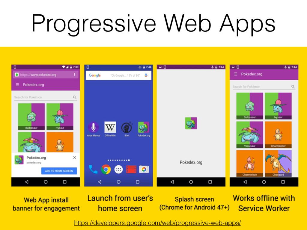 Progressive Web Apps https://developers.google....
