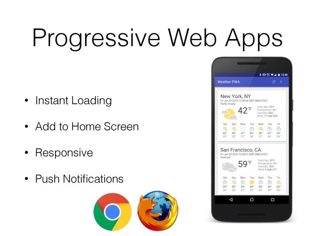 Progressive Web Apps • Instant Loading • Add to...
