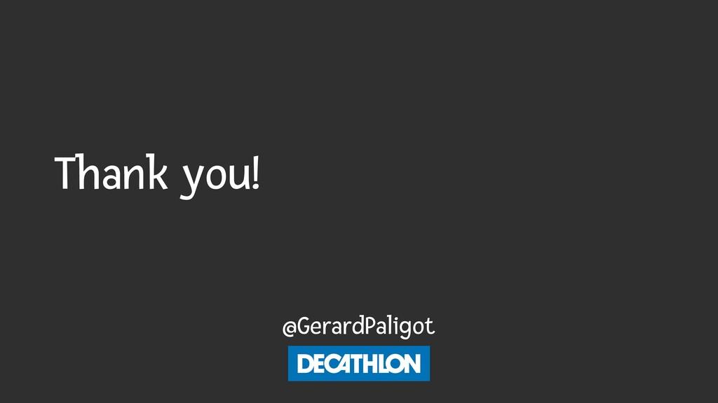 Thank you! @GerardPaligot