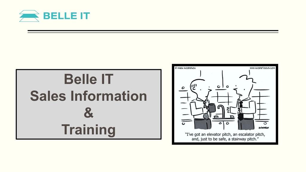 Belle IT Sales Information & Training