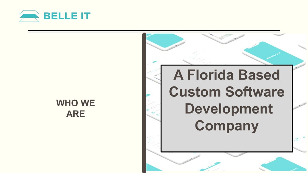 WHO WE ARE A Florida Based Custom Software Deve...