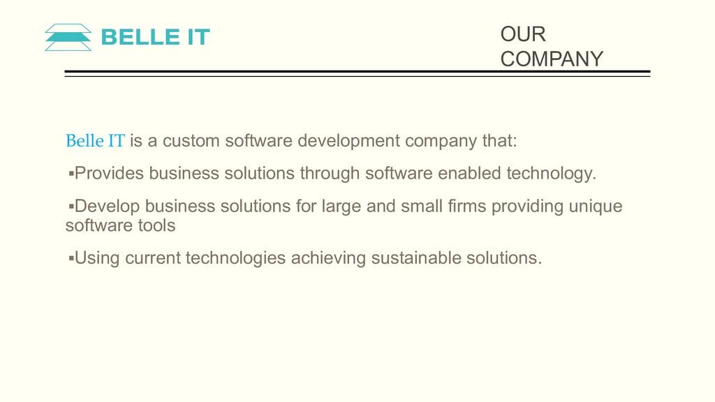 Belle IT is a custom software development compa...
