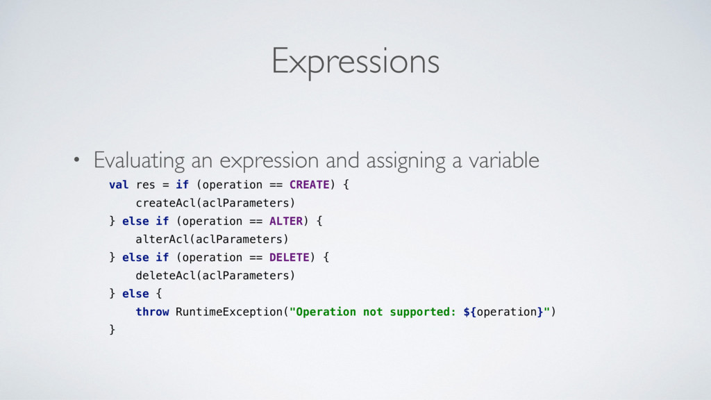 Expressions • Evaluating an expression and assi...