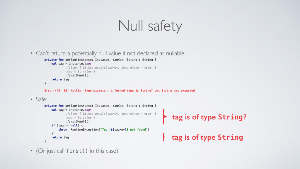 Null safety • Can't return a potentially null v...
