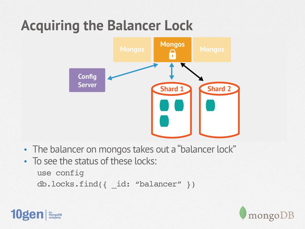 Acquiring the Balancer Lock • The balancer on ...