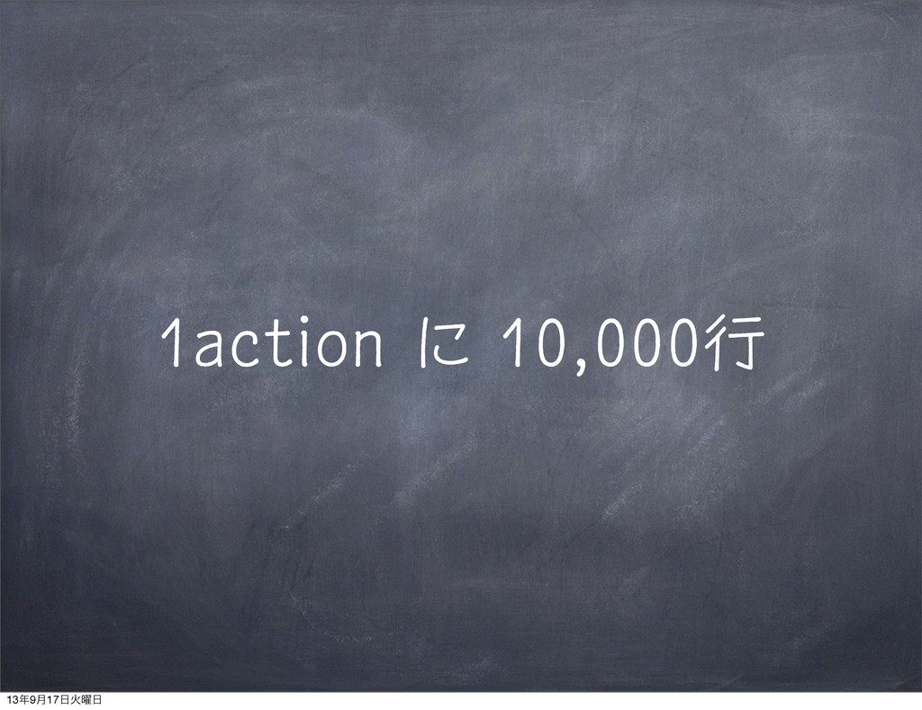 1action に 10,000行 13೥9݄17೔Ր༵೔
