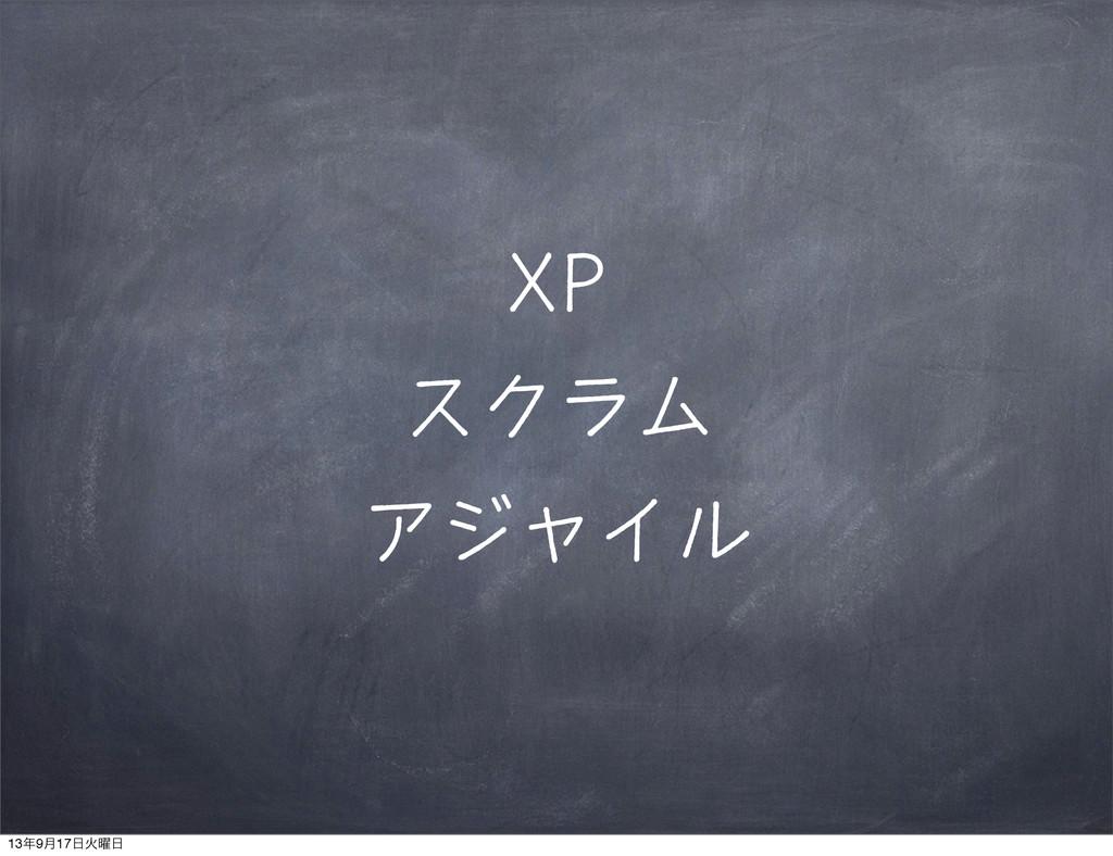 XP スクラム アジャイル 139݄17Ր༵