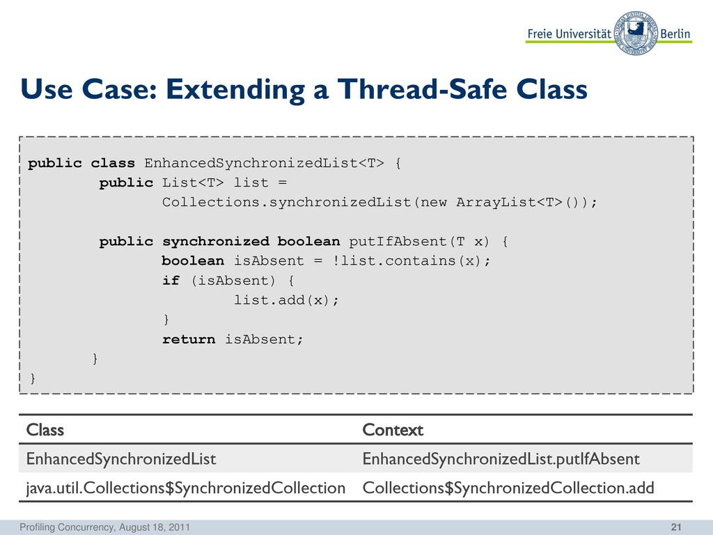 21 Use Case: Extending a Thread-Safe Class publ...