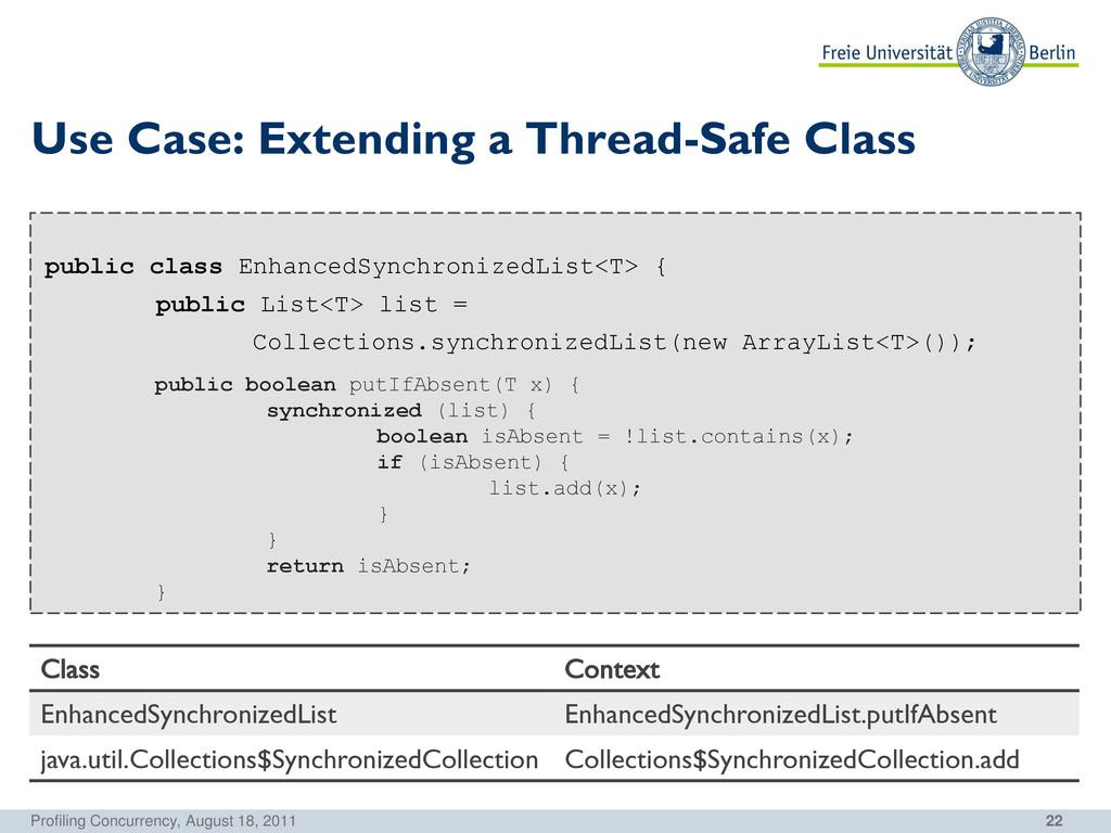 22 Use Case: Extending a Thread-Safe Class publ...