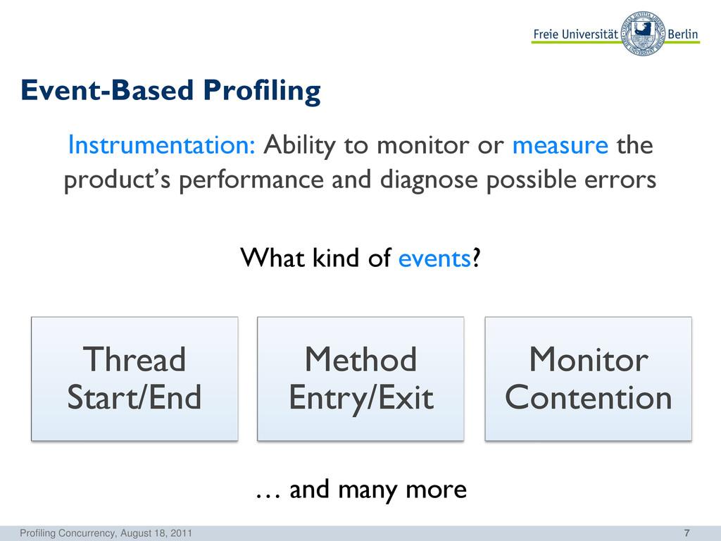 7 Event-Based Profiling Instrumentation: Abilit...