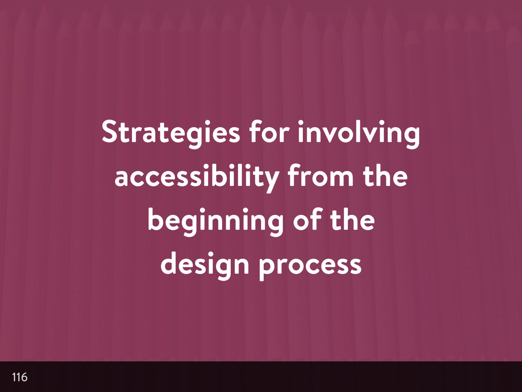 Strategies for involving accessibility from the...