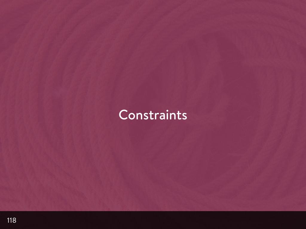 Constraints 118