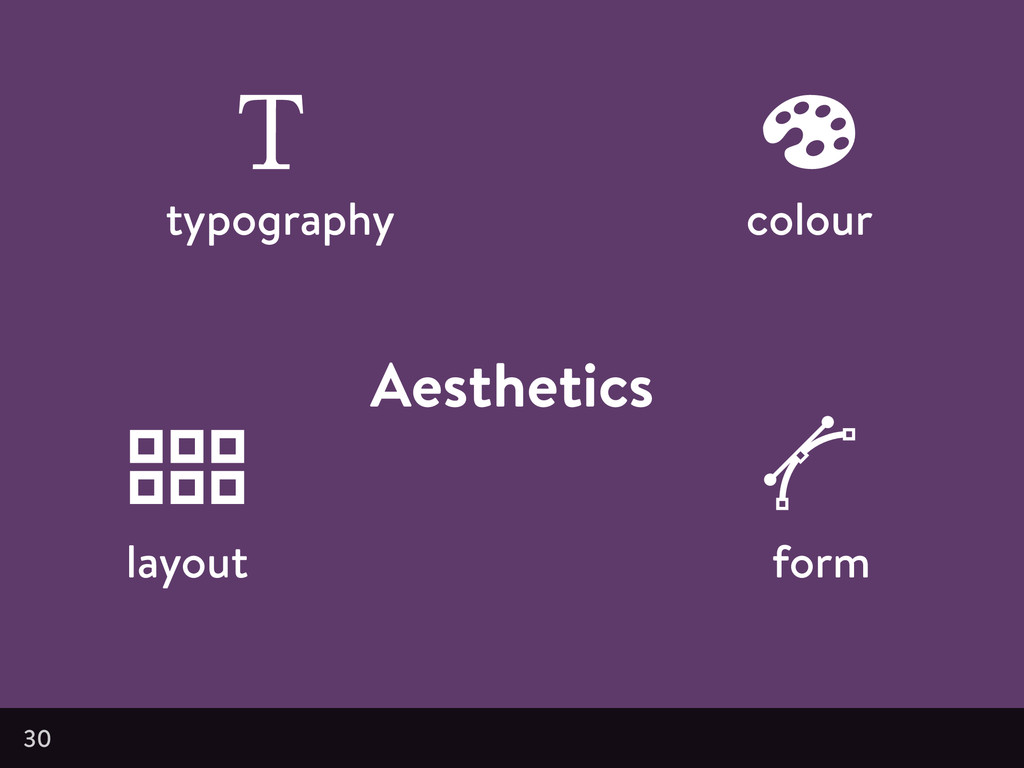 Aesthetics 30 typography colour layout form