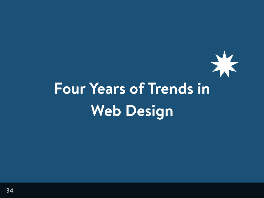 34 Four Years of Trends in Web Design