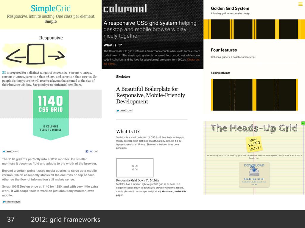 37 2012: grid frameworks
