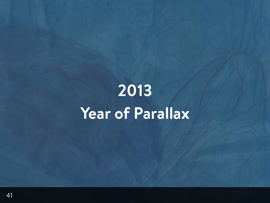 2013 Year of Parallax 41