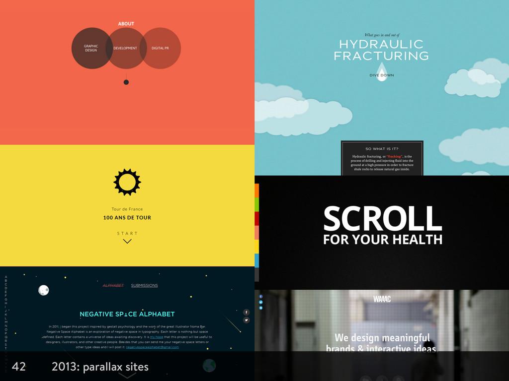 42 2013: parallax sites