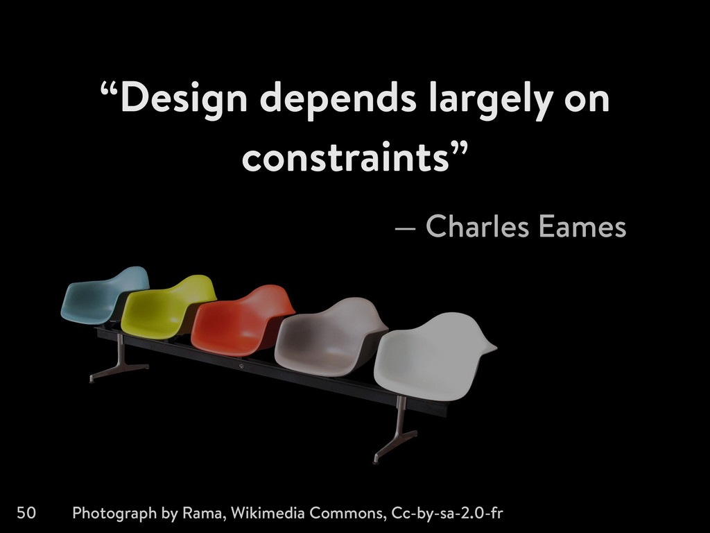 """Design depends largely on constraints"" 50 — Ch..."