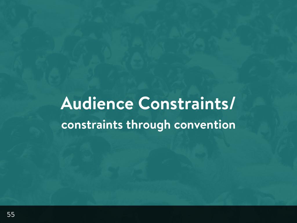 Audience Constraints/ constraints through conve...
