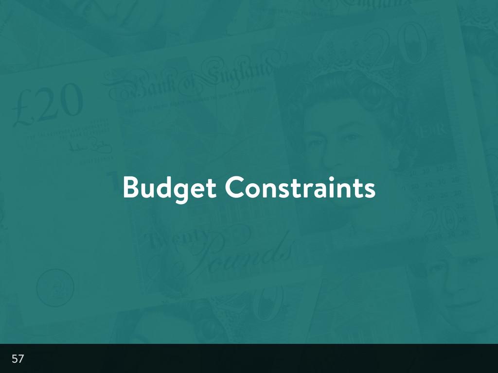 Budget Constraints 57