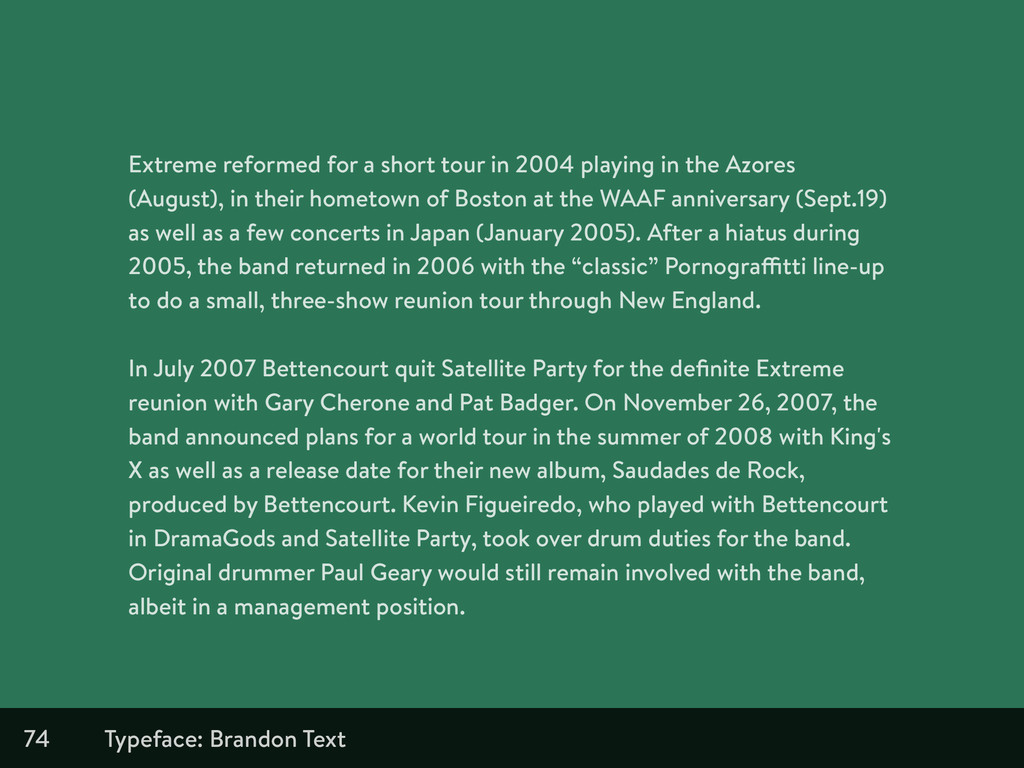 74 Extreme reformed for a short tour in 2004 pl...