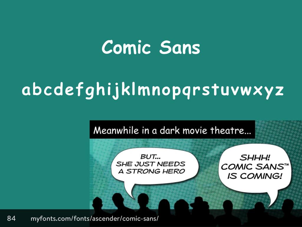 Comic Sans 84 abcdefghijklmnopqrstuvwxyz myfont...