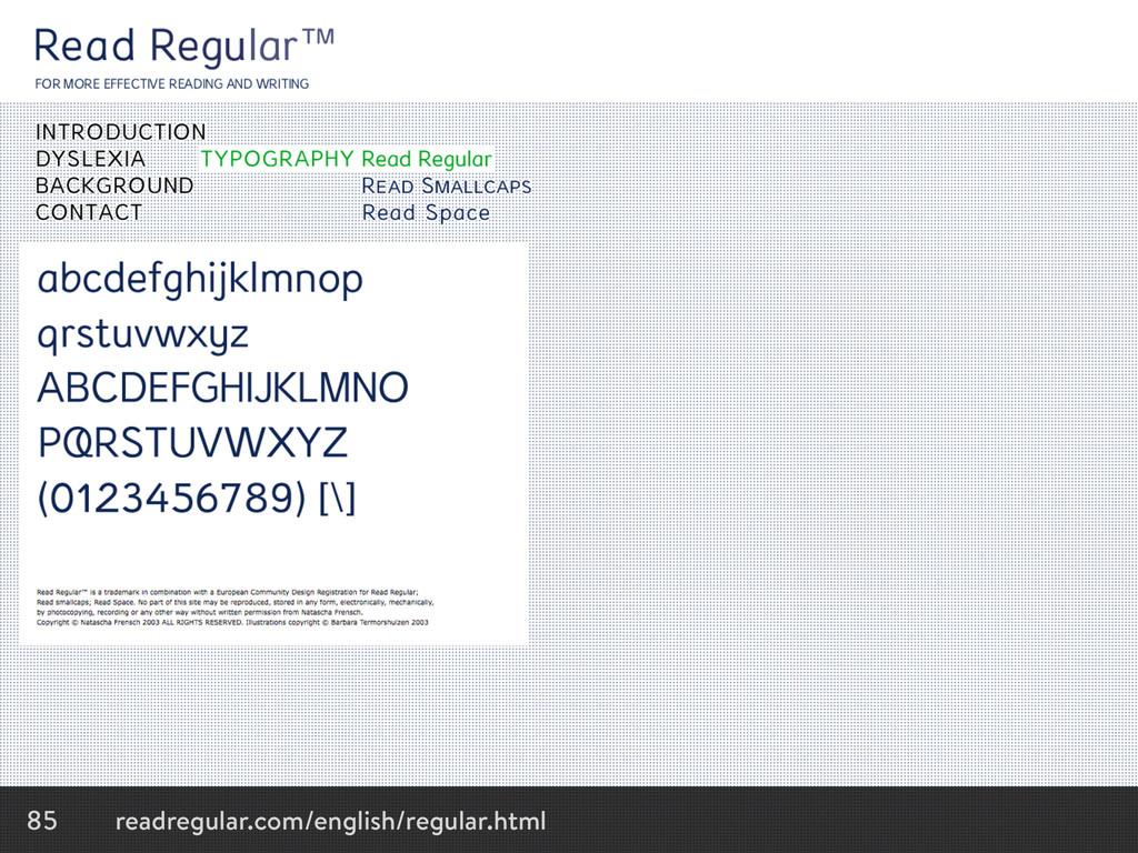 85 readregular.com/english/regular.html