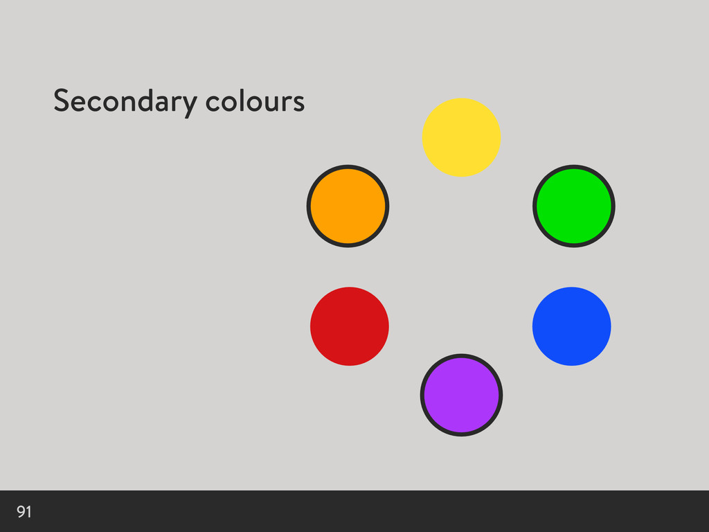 Secondary colours 91